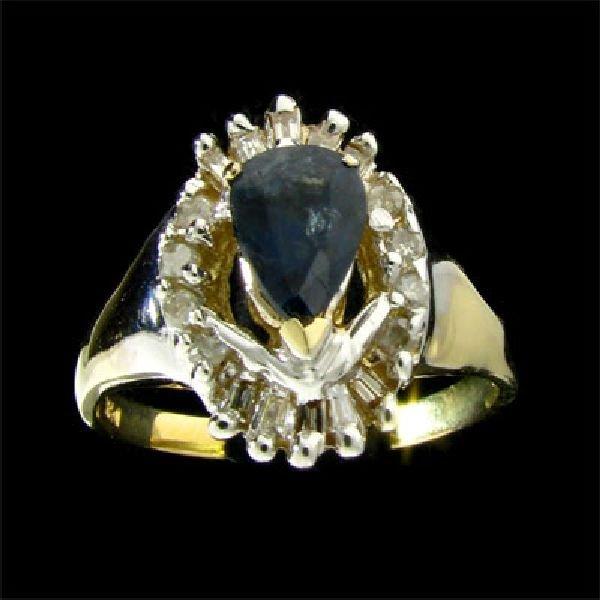 APP: 2.9k 14 kt. Gold, 1.02CT Sapphire & Diamond Ring