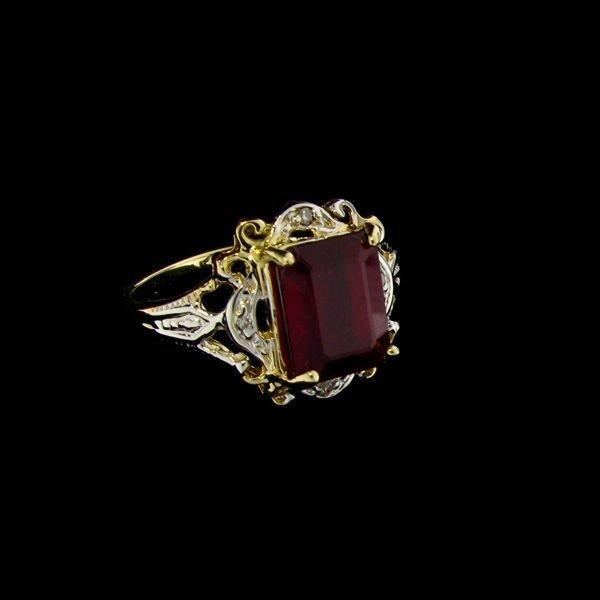 APP: 10k 14 kt. Gold, 3.62CT Ruby & Diamond Ring