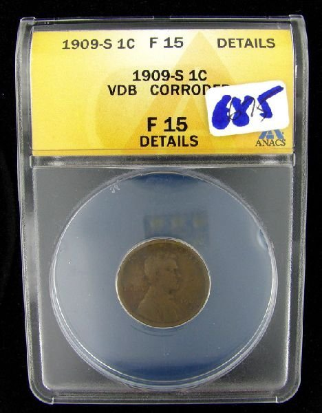 1909-S VDB Once Cent Coin - Investment