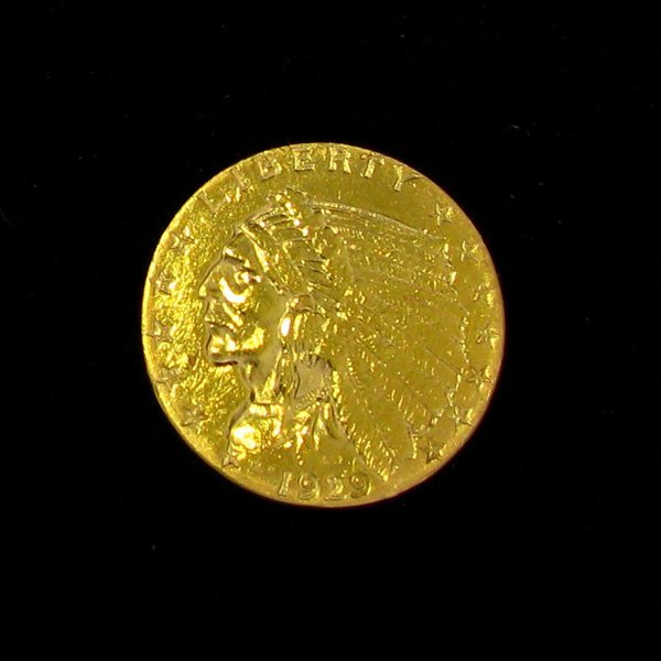 1929 $2.5 U.S Indian Head Gold Coin - Investment