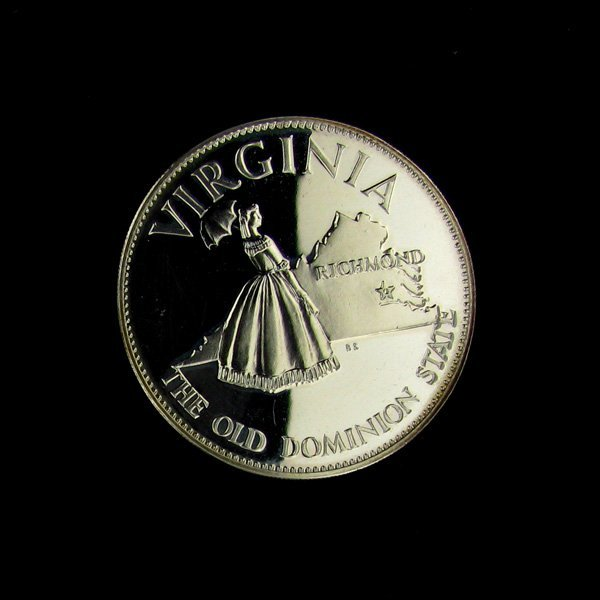 Virginia State Sterling Silver 1oz. Coin - Investment