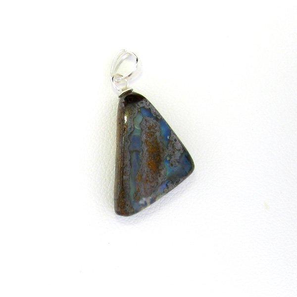 Boulder Opal & Sterling Silver Pendant