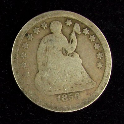 1856 Seated Liberty Half Dime Coin - Investment