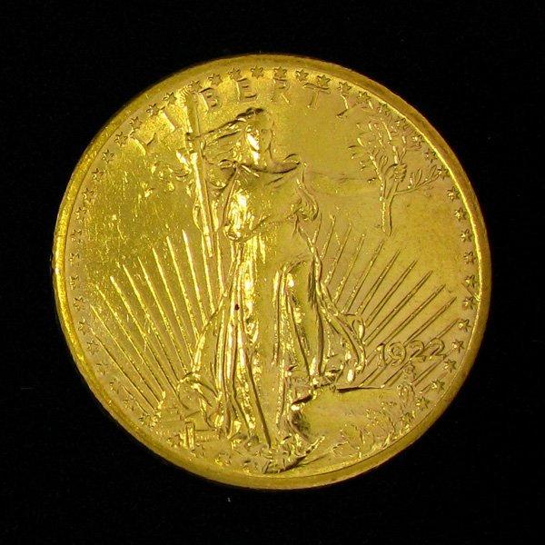 1922 $20 Saint-Gaudens Gold Coin - Investment