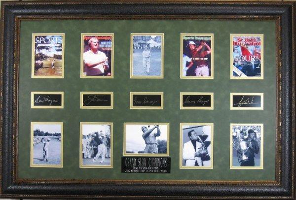 Golf Grand Slam Champions - Plate Signatures!