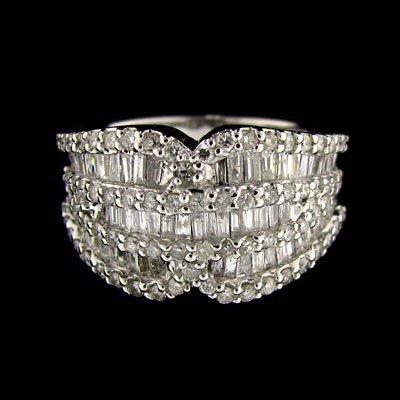 APP: $12.4k 14 kt. White Gold, 0.80CT Diamond Ring