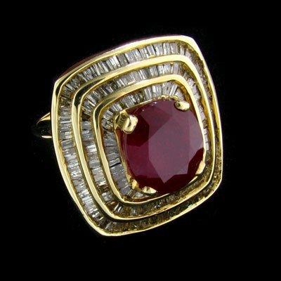 APP: $29.2k 14 kt. Gold, 5.38CT Ruby & Diamond Ring