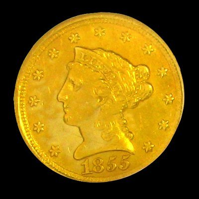 1855-D $2.5 U.S. Liberty Head Gold Coin - Investment