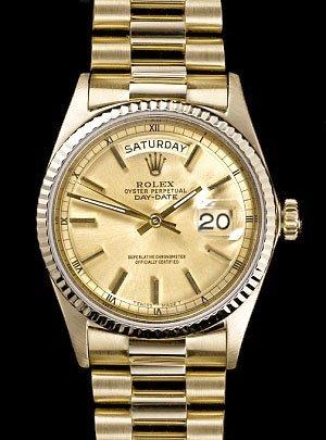 Mens Rolex President Watch - Yellow Gold