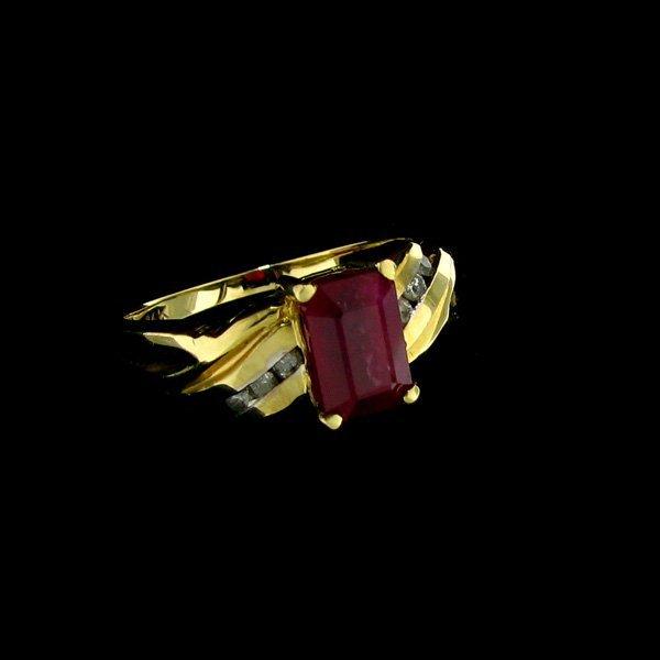 APP: $11.6k 14 kt. Gold, 1.92CT Ruby & Diamond Ring