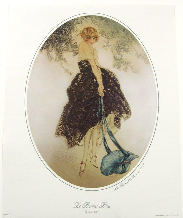 LOUIS ICART Le Bonnet Bleu Print, Open Edition