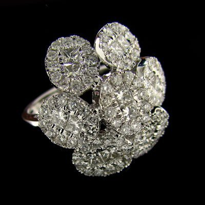 APP: 17.3k 18kt. White Gold, 2.12CT Diamond Ring