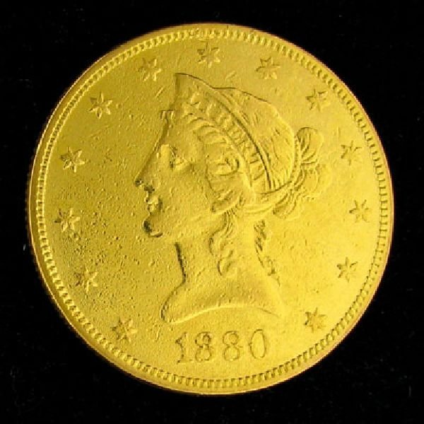 1880 $10 U.S. Liberty Head Gold Coin - Investment