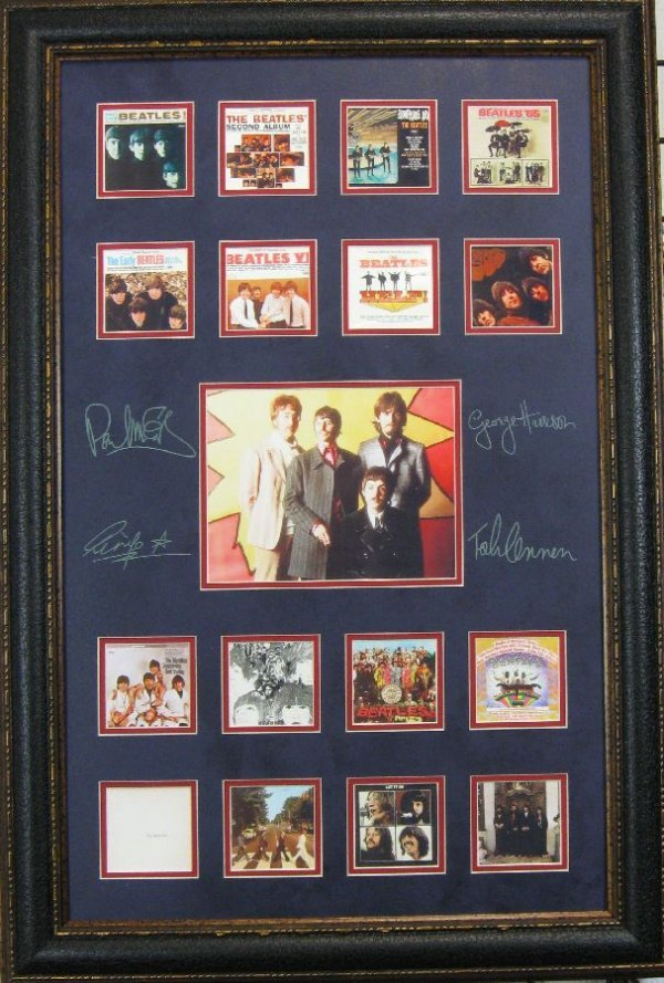 The Beatles Album Covers - Plate Signatures