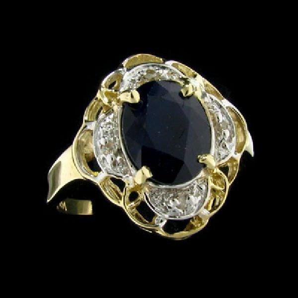 APP:2.7k 14kt Gold 1.98CT Sapphire & .02CT Diamond Ring