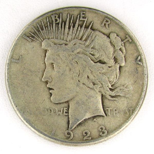 1923-S Peace Dollar Coin - Investment