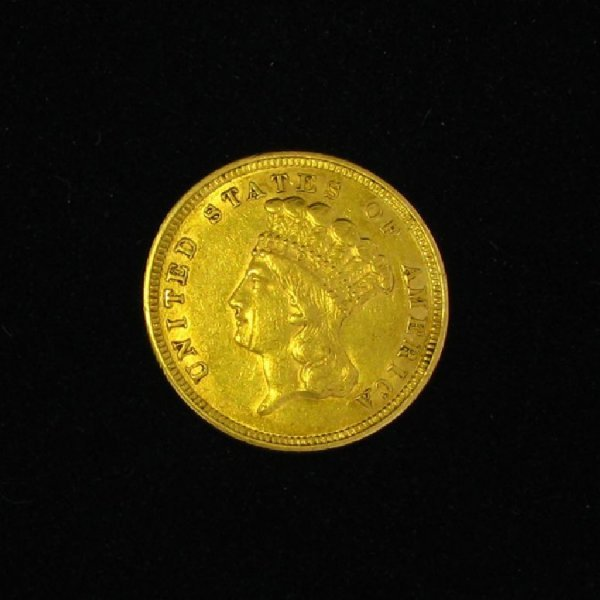 9: 1854 $3 U.S. Indian Head Gold Coin-Investment Potent