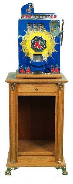 19: Antique 5 Cent Mills Bursting Cherry Slot Machine