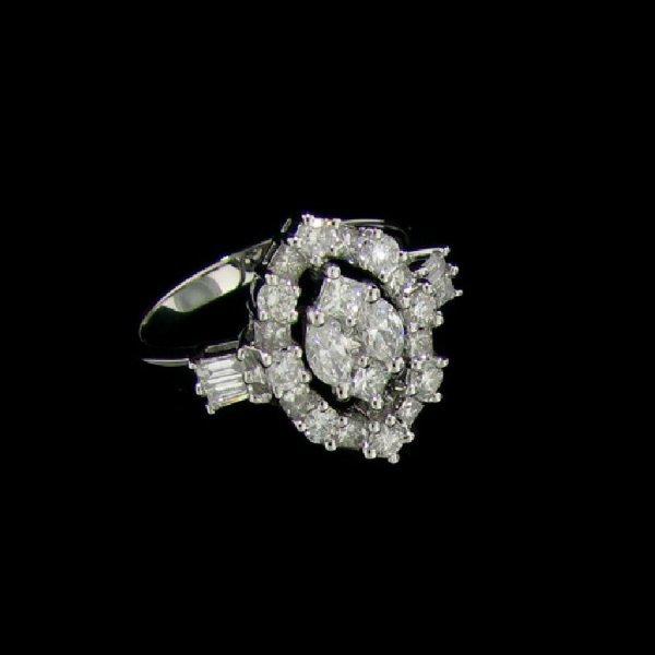21: APP: 13.1k 18 kt. White Gold, 1.23CT Diamond Ring