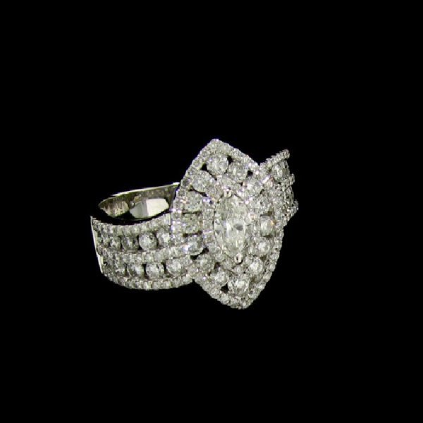 31: APP: 12.9k 14 kt. White Gold, 1.46CT Diamond signed