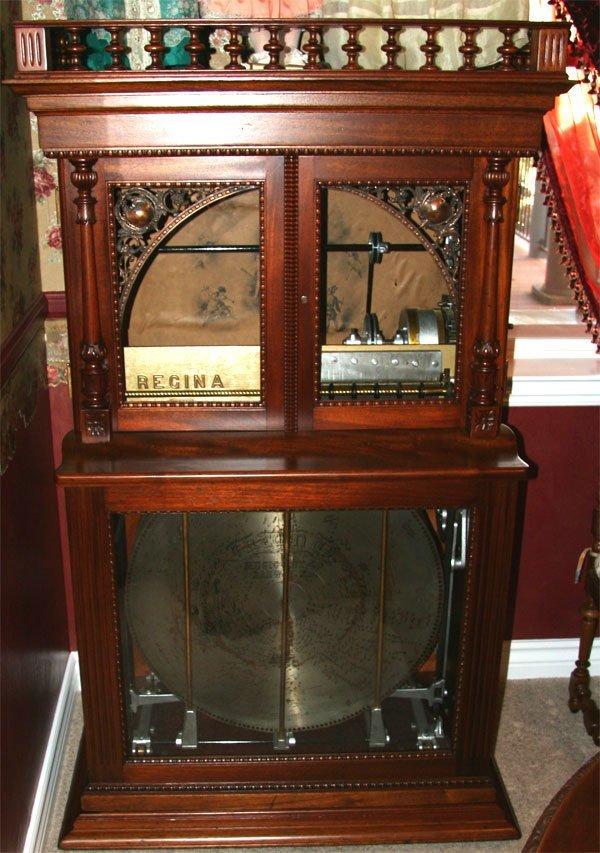 27: Antique Regina 27.5 Inch Changer Music Box - Mint C