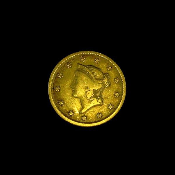 1854 $1 U.S. Liberty Head Gold Coin - Investment