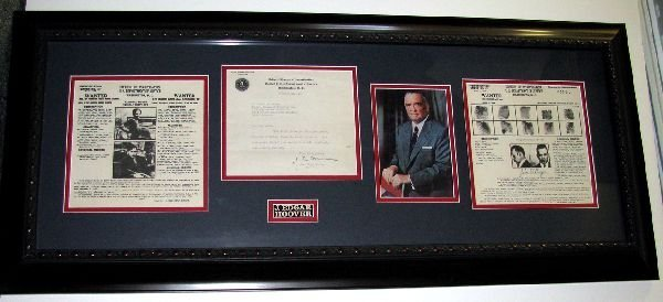 J. EDGAR HOOVER Framed Authentic Collage