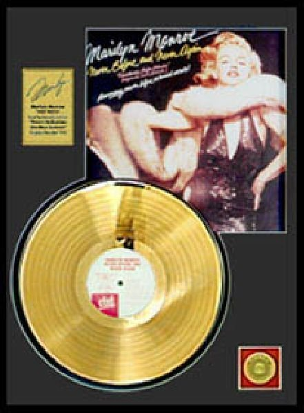 MARILYN MONROE ''Never Before and Never Again'' Gold LP