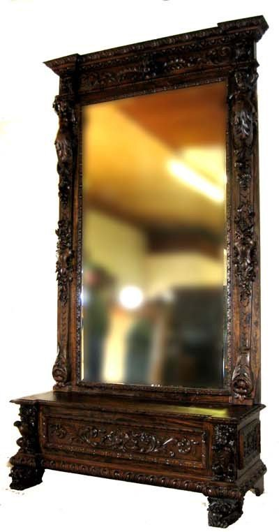 Rare Early Museum Quality Pier Mirror - Mint