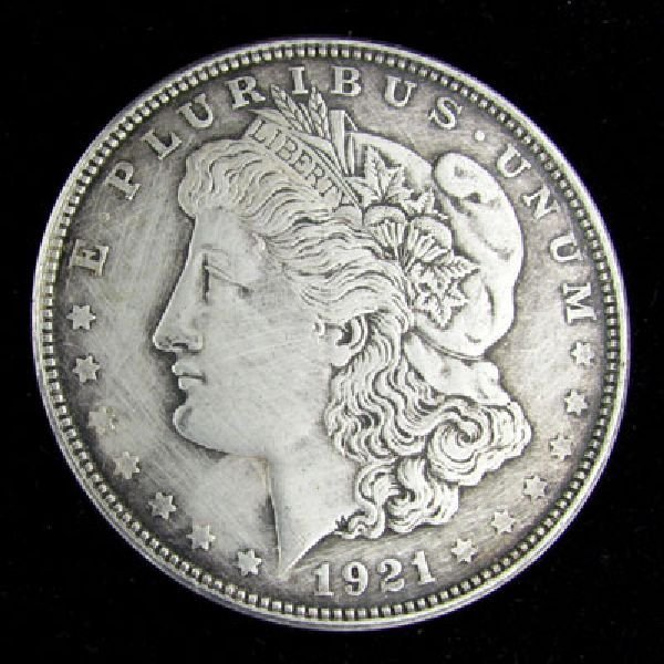 1921-D U.S. Morgan Silver Dollar Coin - Investment
