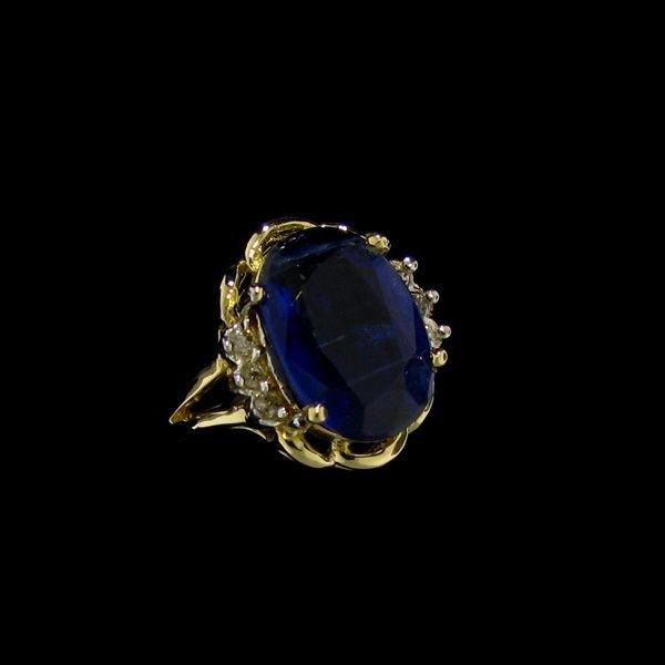 APP: 2k 14 kt. Gold, 4.00CT Kyanite & Diamond Ring