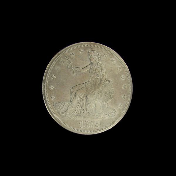 1875-S Seated Liberty Trade Dollar Coin - Investment