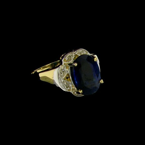 APP: 2.3k 14 kt. Gold, 4.50CT Kyanite & Diamond Ring