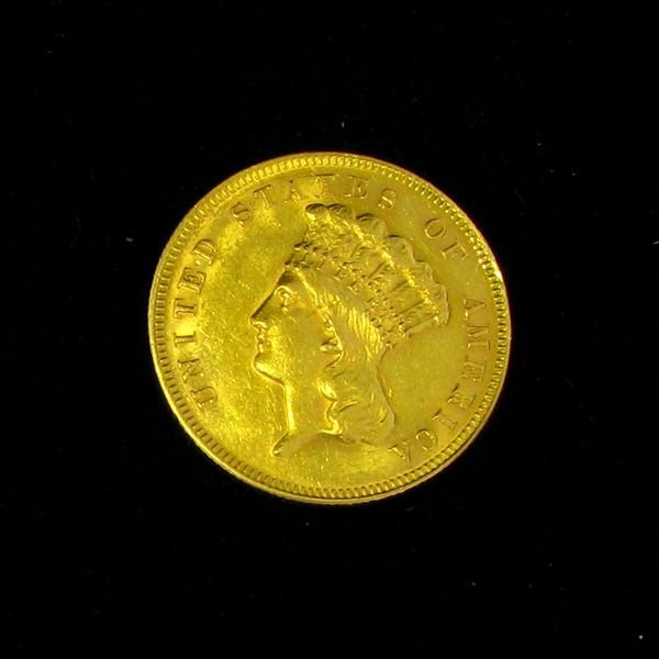 1878 $3 U.S. Indian Head Gold Coin - Investment