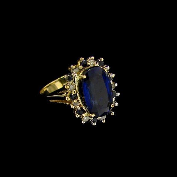 APP: 7.8k 14 kt. Gold, 5.08CT Kyanite & Diamond Ring