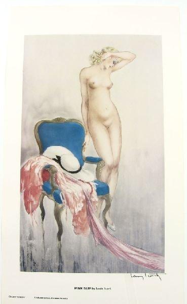 LOUIS ICART Pink Slip Print