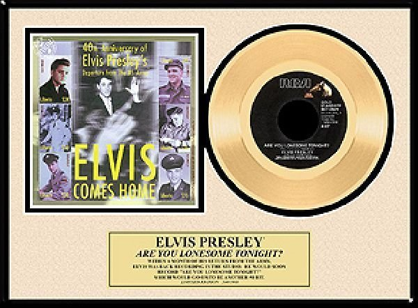 "ELVIS PRESLEY ""Are You Lonesome Tonight"" Gold Record"