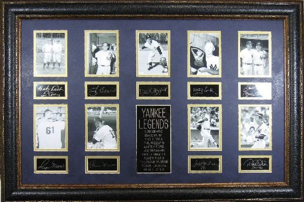 Yankee Legends - Plate Signatures