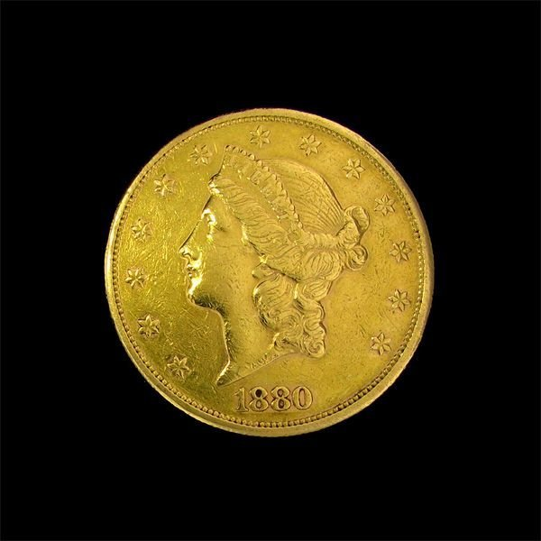 1880-S U.S. $20 Liberty Head Gold Coin - Investment