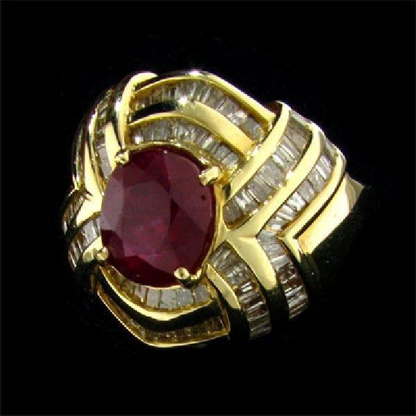 APP: 17.1k 14 kt. Gold, 2.72CT Ruby & Diamond Ring