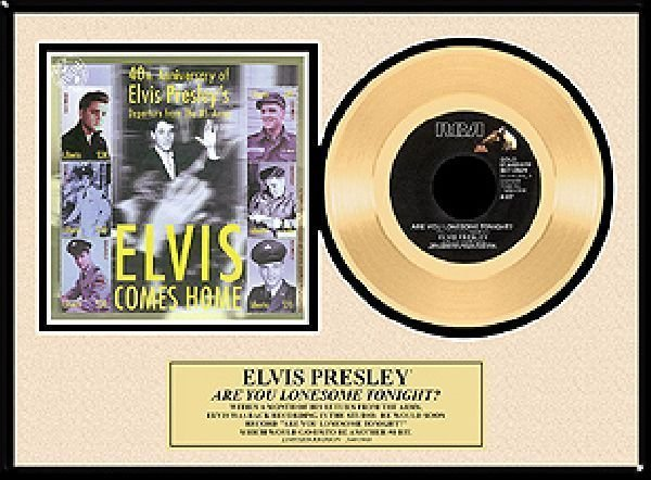 """ELVIS PRESLEY """"Are You Lonesome Tonight"""" Gold Record"""