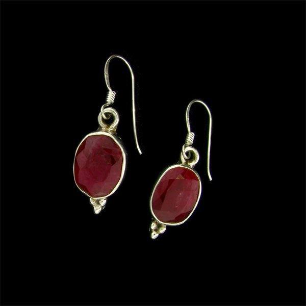 APP: 8k 9.61CT Ruby & Sterling Silver Earrings