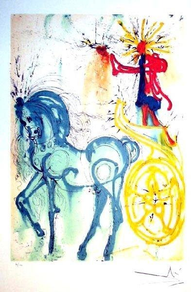 SALVADOR DALI Le Cheval De Triomphe Print, Limited Ed.