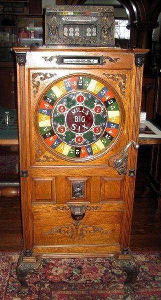 1912 Mills 25 Cent Big Six Upright Slot Machine