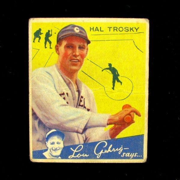 Hal Trosky #76 BP $50-$250 Goudey Baseball Card