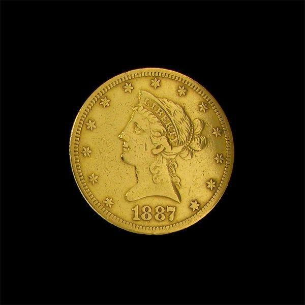 1887 $10 U.S. Liberty Head Gold Coin - Investment