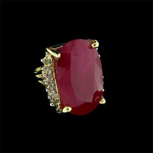 APP: 46.2k 14kt Gold, 25.23CT Ruby & Diamond Ring