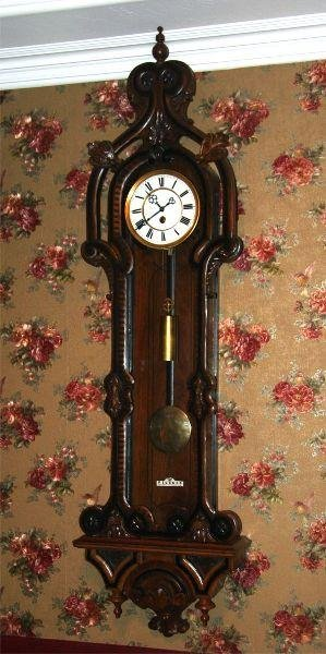 Very Rare Early 1800's Antique 1 Weight Wall Clock-Mint