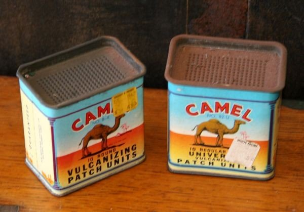 Antique Camel Tins