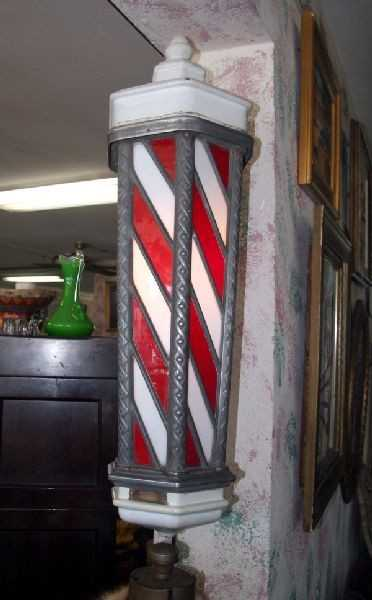 Antique Koken Barber Pole Circa 1910 Very Rare
